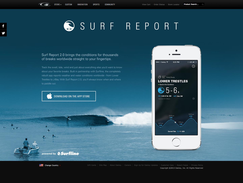 Surfreport website