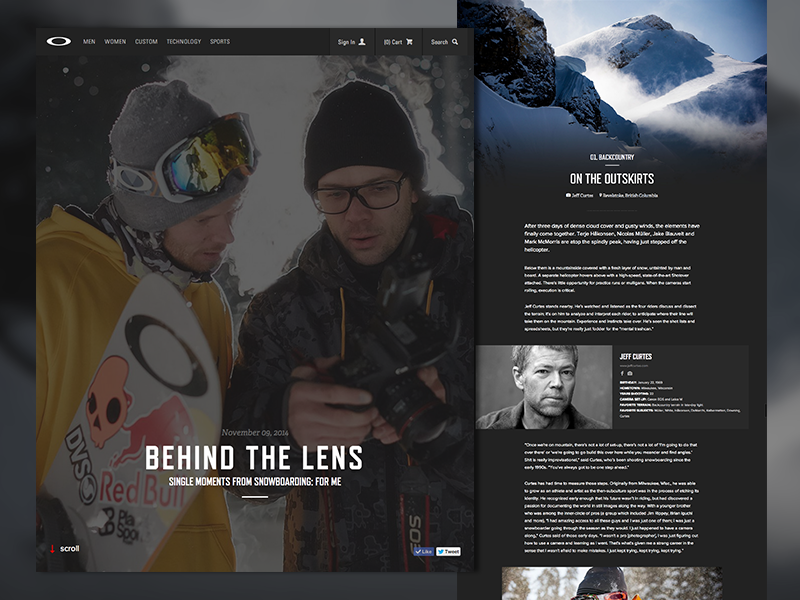 Behind The Lens - Feature Article oakley snowboarding photography blog feature article editorial