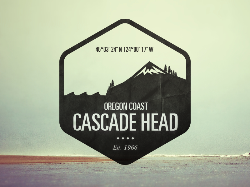 Cascade Head - Logo Badge logo badge illustration icon graphic design national parks typography branding