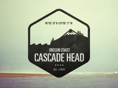 Cascade Head - Logo Badge logo badge illustration icon graphic design national parks typography branding