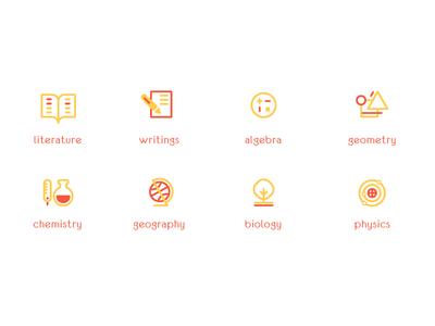 Icon set for School Branding