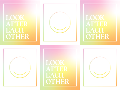 Look After Each Other type design designs rainbow colorful color typography type