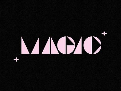 + Magic + texture fun shape pink black magic type typography custom type