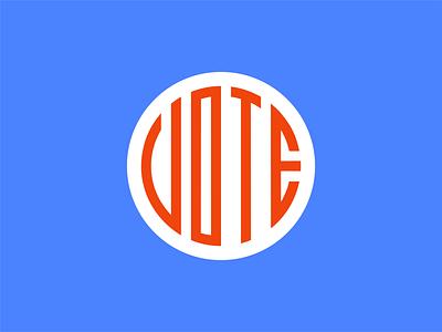 VOTE VOTE VOTE blue white red type design typography typeface patriotic america