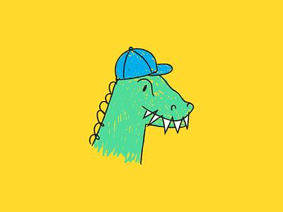 Dino drawing fun dino dinosaur color scribble sketch draw illustrated illustration