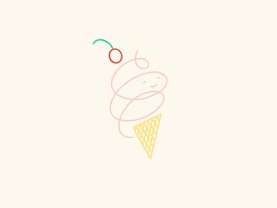 Ice Cream, You Scream simple illustration ice cream cone ice cream illustrate fun illustrated illustration
