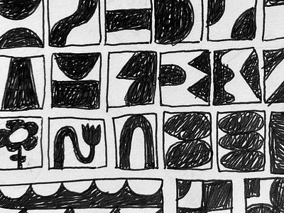 Sketchbook 1 abstract squares graphic design shapes shape sketchbook design