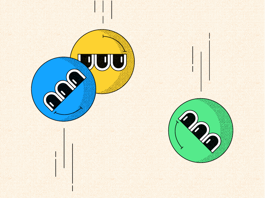 Bounce ball bounce balls illustrate eyes face color colorful illustration