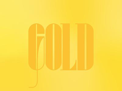Golden custom type gradient golden gold typography design type typography