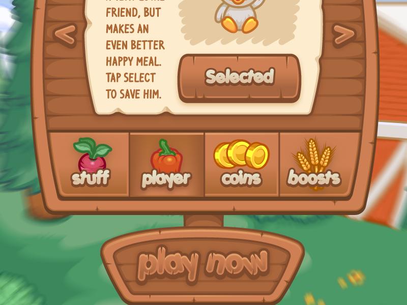 Balloon Escape Shop Large farm ios game ui vector wood paper coins chicken