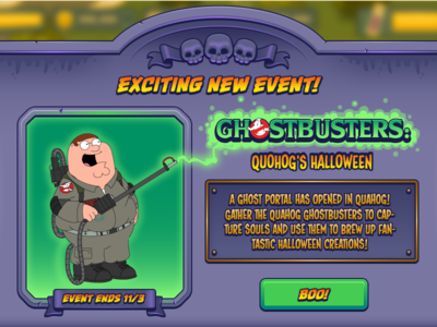 Halloween Modal family guy ui game ios mobile halloween shostbusters