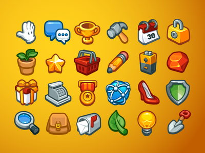 Icon Set icons game cartoon