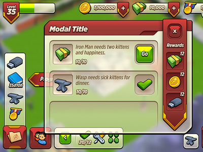 Marvel UI Style Most Recent avengers academy ui marvel game
