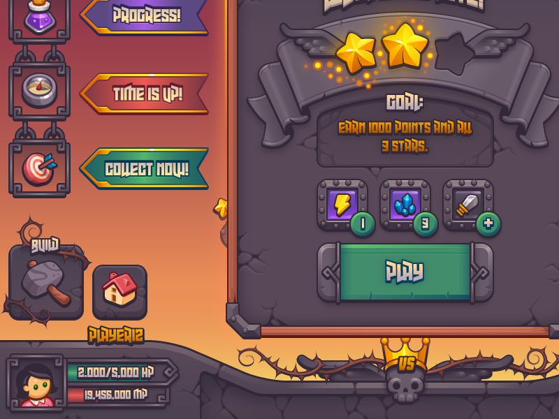 Complete Fantasy Game UI Kit by Melissa Pohl on Dribbble