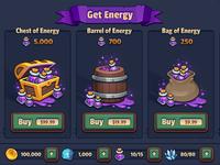 Legends TD Shop UI