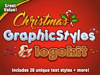 Christmas Graphic Styles And Logokit