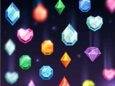 Space Crystals crystals jewels diamonds ruby emerald rainbow space