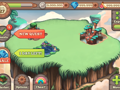 Monsters HUD hud social game tiny monsters ios mobile quest