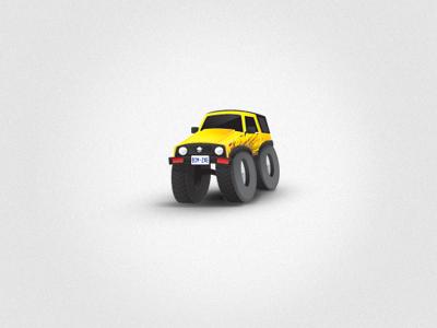 4x4 4x4 tiny jeep samurai offroad illustration illustrator mud barbados