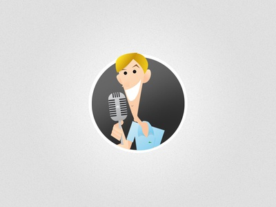 Announcer illustration vectors people illustrator