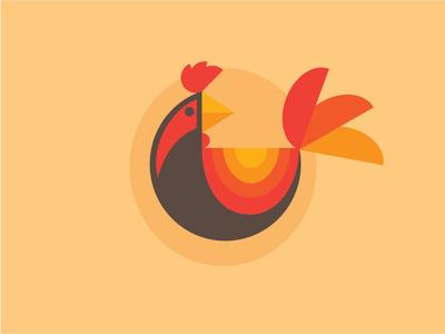 Rooster illustration illustrator vector farm fowl chicken rooster