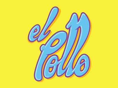 Jelly Pollo illustrator funky illustration logo jelly lettering