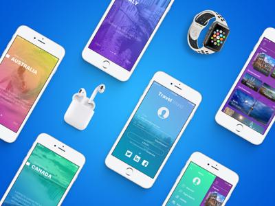 Concept Travel App Design