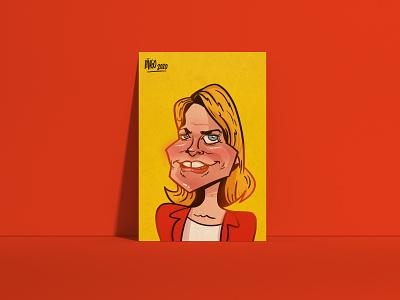 Sarah - Element Human company caricatures photoshop ipadart sketchbook caricatures caricature