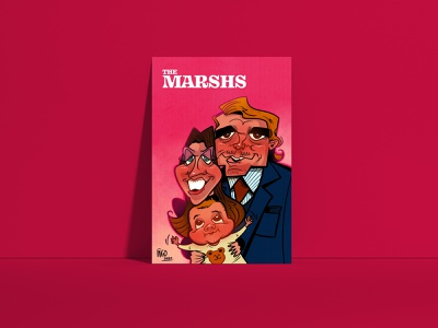 The Marshs family portrait. procreate design ipadart poster art caricature photoshop caricatures illustration