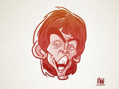 George Harrison caricature