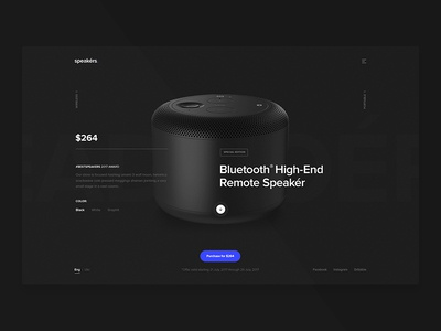 Bluetooth Speakers landing concept