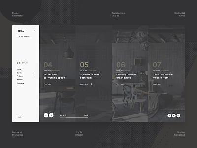 Ohio Concept - Project Showcase web ui showcase portfolio minimal interior design clean