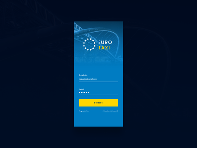 Euro Taxi app login design login taxi branding design logo ui design ui android app design app