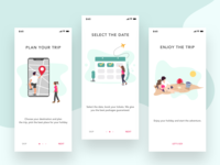 Onboarding Concept for Travel Booking App