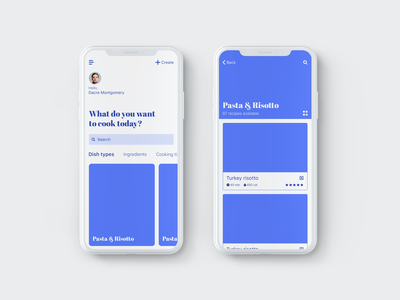 Home page interactions mobile app app uiux design animations prototype wireframe mindinventory recipe app interactions iphone x