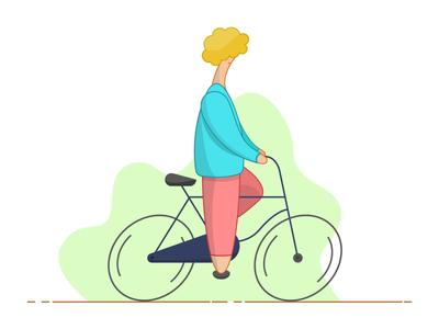 Cycling Illustration art character design minimal simple flat ride character bike adobe illustrator sketch hand drawn illustration cycling bicycle
