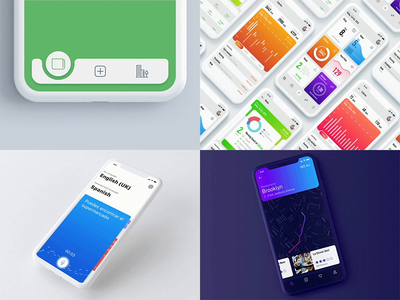 Best of Mobile UI/UX in 2018 interaction interface user ux ui iphone x ios iphone android work wall of the fame summary slider shots list collection best animation 2018 trends 2018