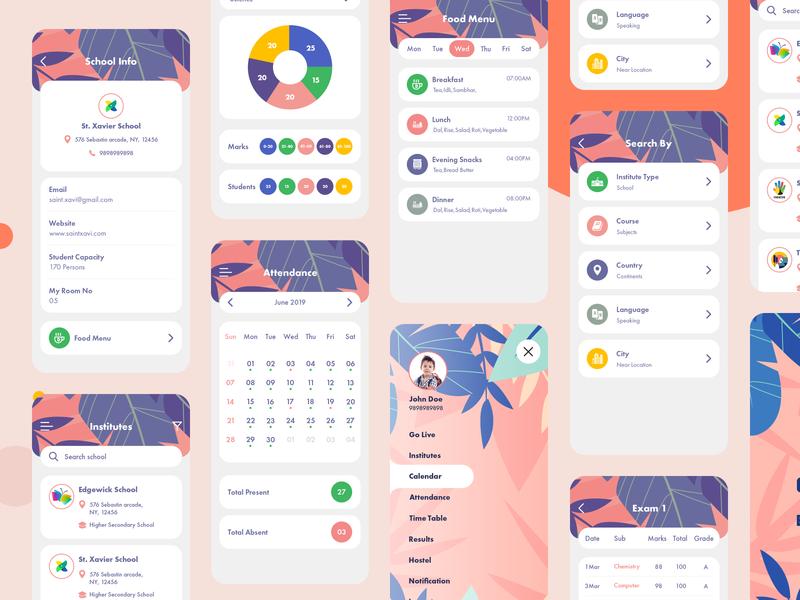 School app design education education app study app school school app
