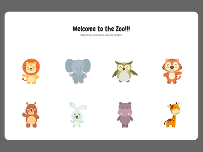 Web interaction for zoo app ux ui smooth simple motion minimal interaction clean detail list card animation reactjs react page transitions responsive website web