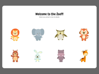 Web interaction for zoo app