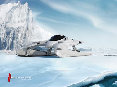 Tarpun ao c4d concept gi illustration machine model race racer render sci-fi scifi space space ship spaceship vehicle rendering digital passion tarpun ice glider cinema 4d 3d composing concept car
