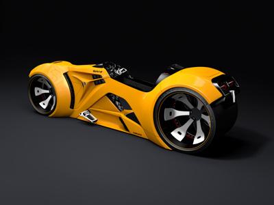 The Equalizer ao c4d concept gi illustration machine model race racer render sci-fi scifi space space ship spaceship vehicle rendering concept car composing 3d cinema 4d digital passion