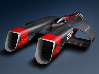 Manta Racer 3d concept illustration machine model race racer render sci-fi scifi space space ship spaceship vehicle rendering
