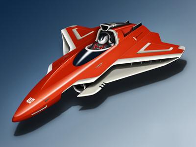 Nano Racer 3d concept illustration machine model race racer render sci-fi scifi space space ship spaceship vehicle rendering