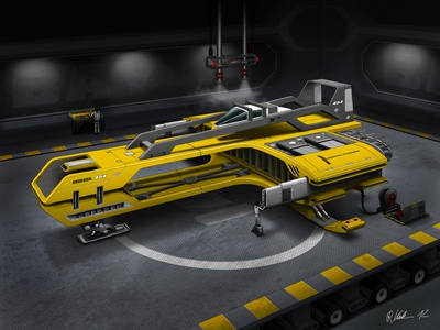 Das Krokodil 3d concept illustration machine model race racer render sci-fi scifi space space ship spaceship vehicle rendering