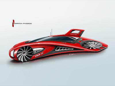 Zyklon 2.0 photoshop concept car