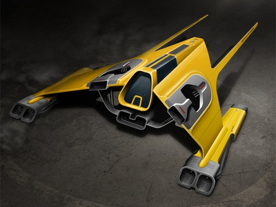 XTR Star Fighter concept illustration machine model race racer render sci-fi scifi space space ship spaceship vehicle rendering