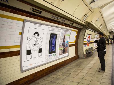 London Underground dip pen ink traditional art art exhibition art show art london underground london