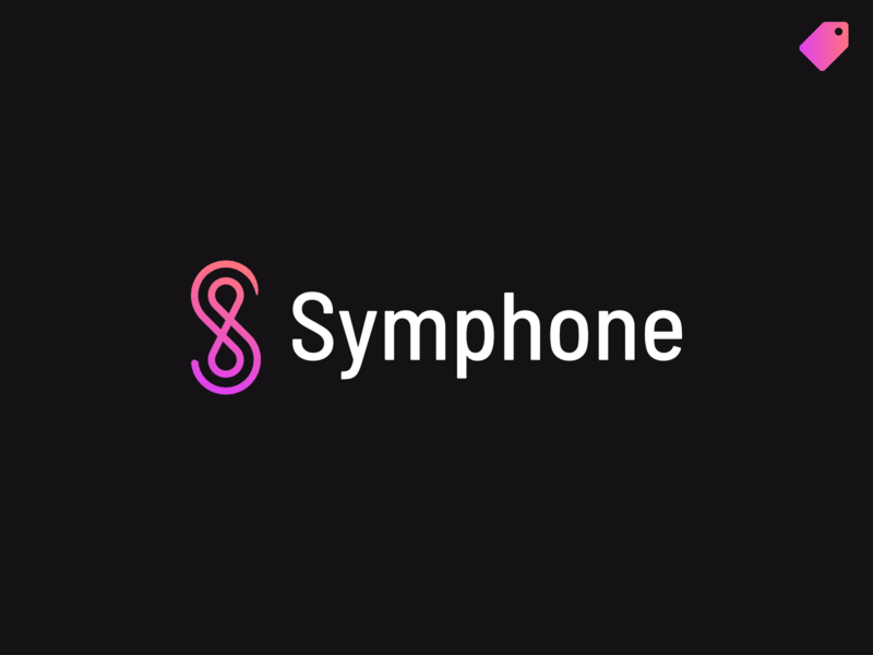 """Symphone"" logo template naming gradient letter logo symphony s logo abstract branding logo"