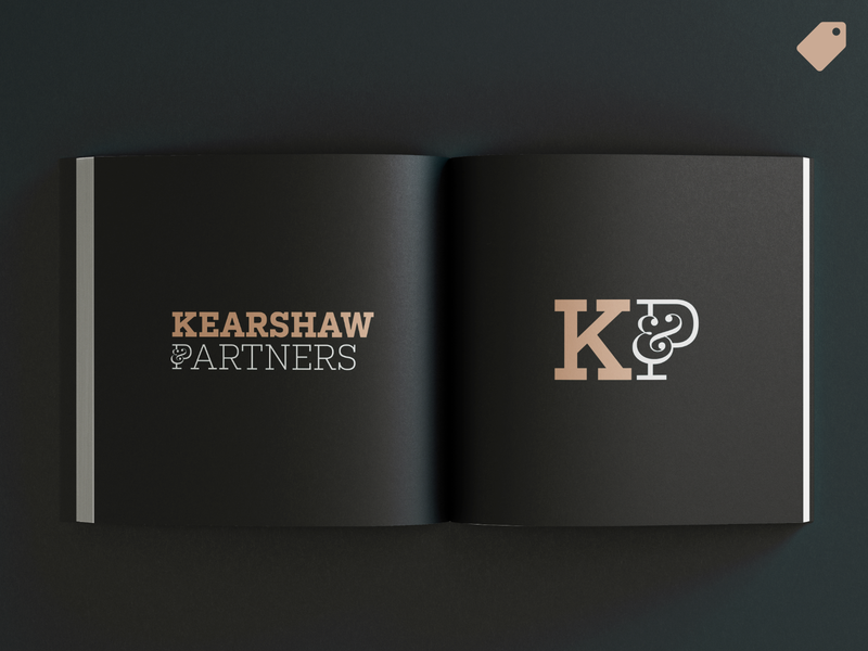 """Kearshaw & Partners"" logo template letter logo letterform elegant noble legal office legal attorney lawyer ampersand logo ampersand wordmark minimal logo branding logo"